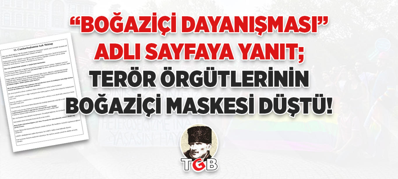 Terör Örgütlerinin Boğaziçi Maskesi Düştü