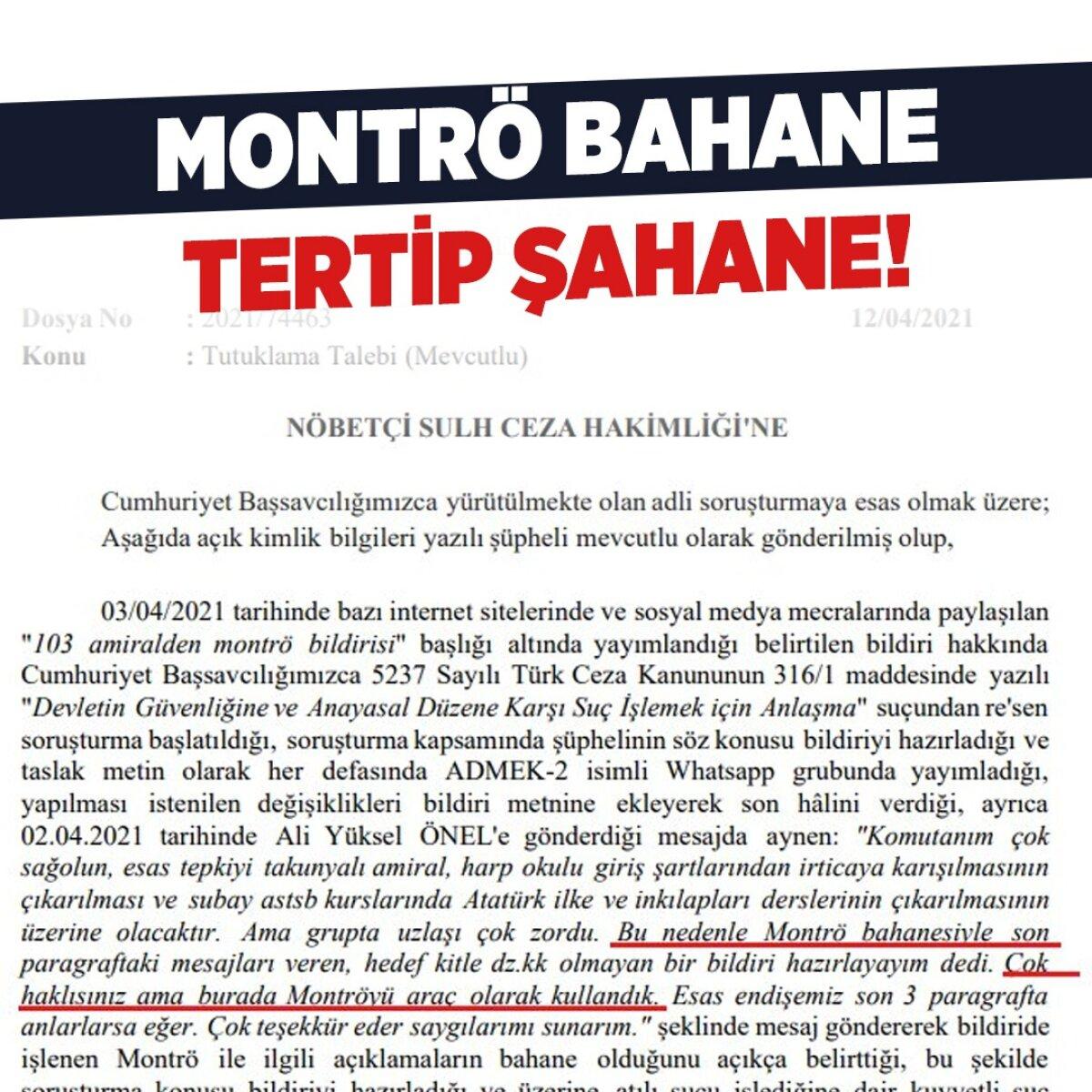 MONTRÖ BAHANE TERTİP ŞAHANE