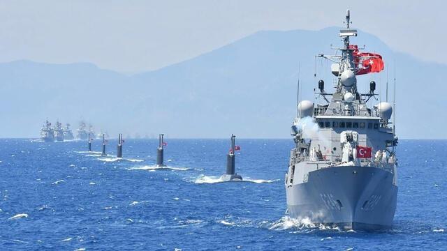 'Türk donanması, Doğu Akdeniz'deki en güçlü donanma'