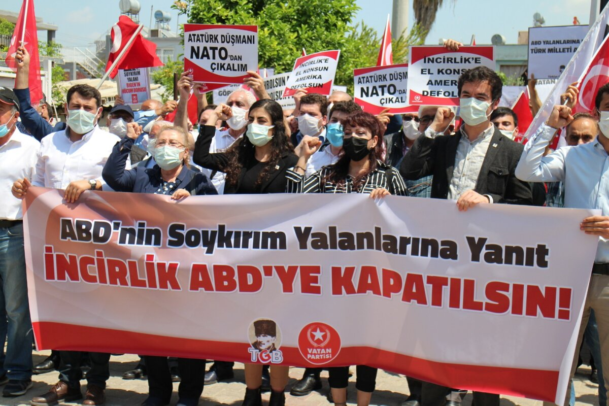 TGB and Vatan Party called out from in front of the Incirlik Military Base
