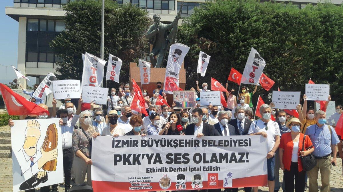 TGB PKK Destekçisi Felsefeciyi Protesto Etti