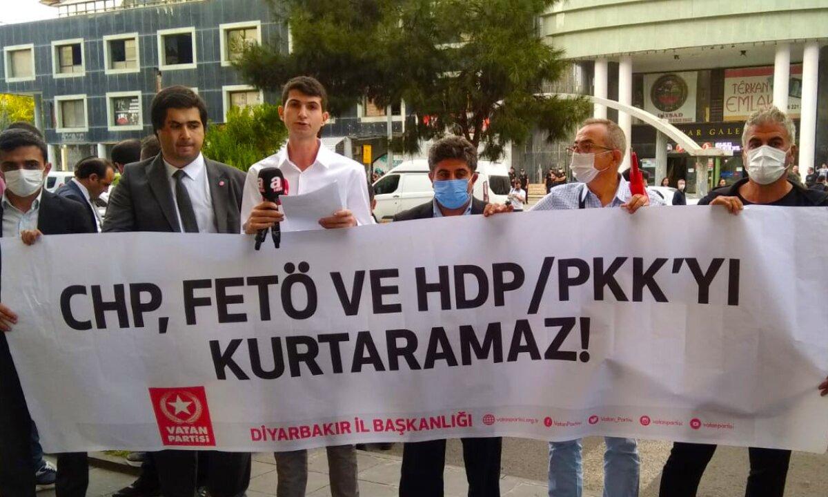 TGB Diyarbakır'dan CHP'nin FETÖ ve PKK'yı Kurtarma Planına Geçit Yok!