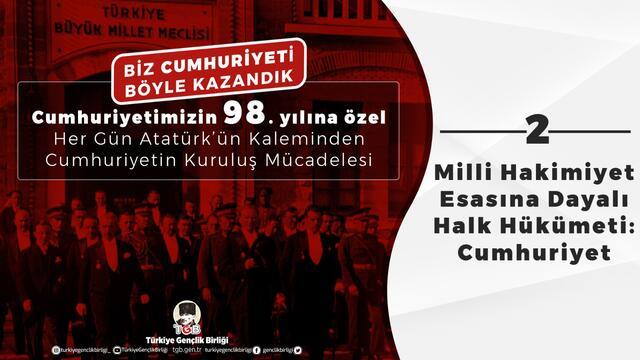 Milli Hakimiyet Esasına Dayalı Halk Hükümeti: Cumhuriyet